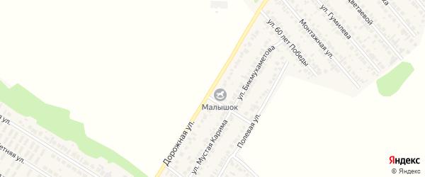 Дорожная улица на карте села Загородного с номерами домов