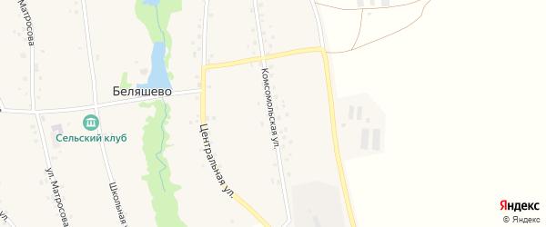 Комсомольская улица на карте села Беляшево с номерами домов
