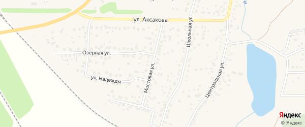 Мостовая улица на карте села Зубово с номерами домов