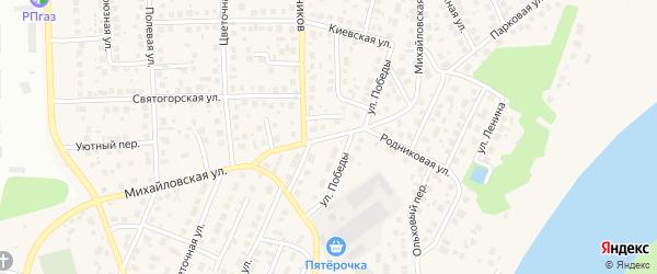 Михайловская улица на карте села Михайловки с номерами домов