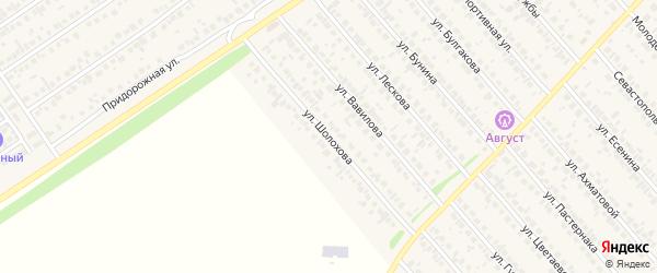 Улица Шолохова на карте села Загородного с номерами домов