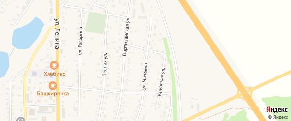 Улица Чапаева на карте села Толбазы с номерами домов