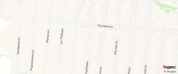 Улица Свободы на карте села Старобалтачево с номерами домов