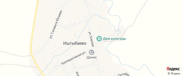 Улица Кирова на карте деревни Иштыбаево с номерами домов