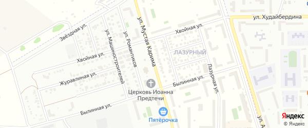 Улица Мустая Карима на карте села Мариинского с номерами домов