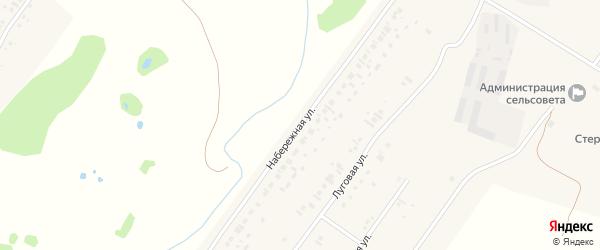 Набережная улица на карте села Новое Барятино с номерами домов