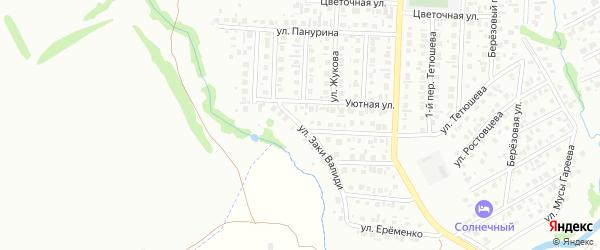 Улица Заки Валиди на карте Стерлитамака с номерами домов