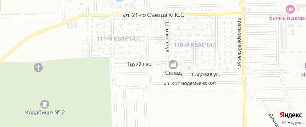 Тихий переулок на карте Салавата с номерами домов