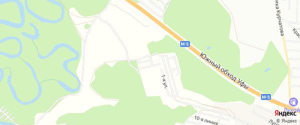 СНТ Солнечный на карте Уфимского района с номерами домов