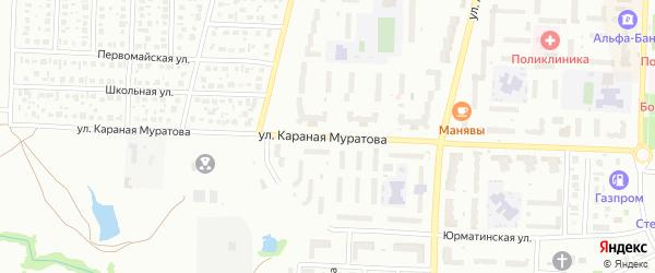 Улица Караная Муратова на карте Стерлитамака с номерами домов