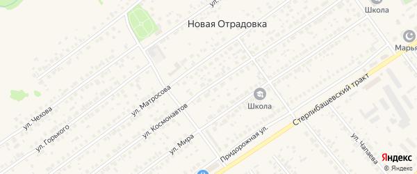Улица Космонавтов на карте села Новой Отрадовки с номерами домов