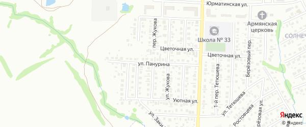 Переулок Жукова на карте Стерлитамака с номерами домов