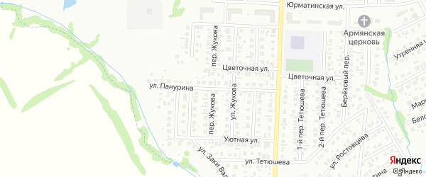Улица Панурина на карте Стерлитамака с номерами домов