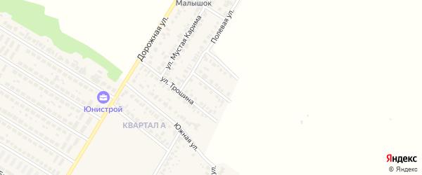 Полевой 2-й переулок на карте села Загородного с номерами домов