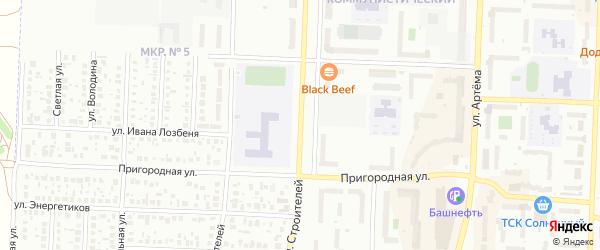 Улица Строителей на карте Стерлитамака с номерами домов