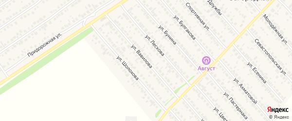 Улица Вавилова на карте села Загородного с номерами домов