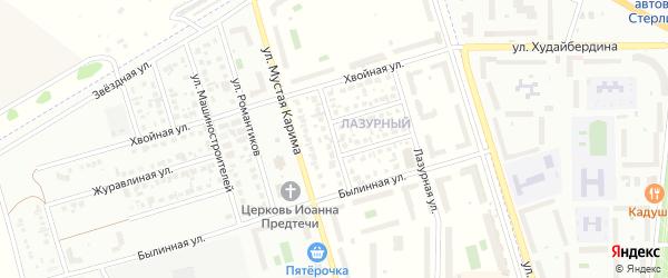 Ключевая улица на карте села Мариинского с номерами домов