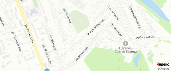 Малыгина 2-я улица на карте Уфы с номерами домов