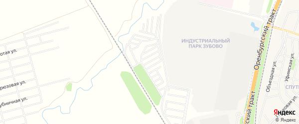 СНТ Яблонька на карте Уфимского района с номерами домов