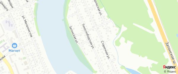 Тихослободская улица на карте поселка Тихой Слободы с номерами домов