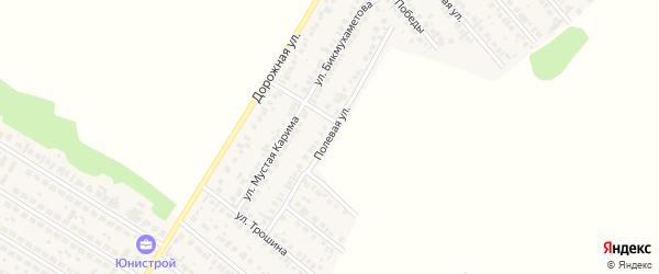 Полевая улица на карте села Загородного с номерами домов