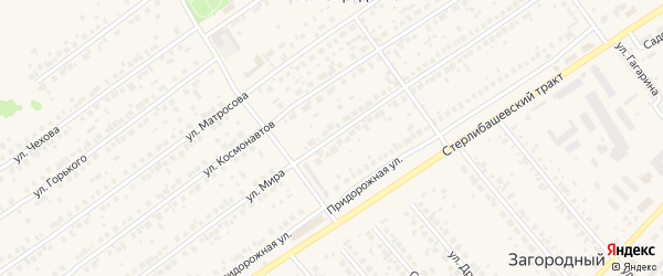 Улица Мира на карте села Новой Отрадовки с номерами домов