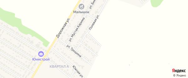 Полевой 1-й переулок на карте села Загородного с номерами домов