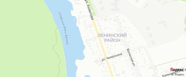Затонский переулок на карте Уфы с номерами домов