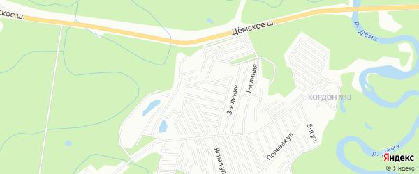 СНТ Нефтяник N1 на карте Уфимского района с номерами домов