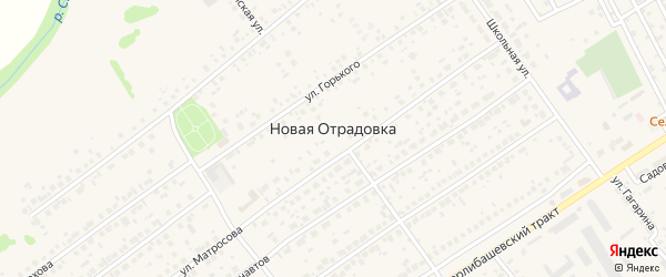 Улица Аксакова на карте села Новой Отрадовки с номерами домов