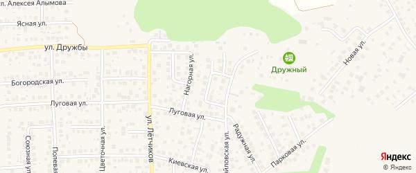 Лазурная улица на карте села Михайловки с номерами домов