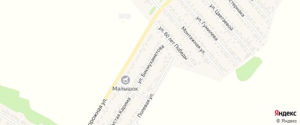Улица Бикмухаметова на карте села Загородного с номерами домов
