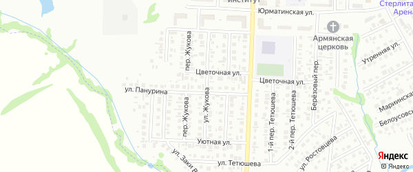 Улица Жукова на карте Стерлитамака с номерами домов