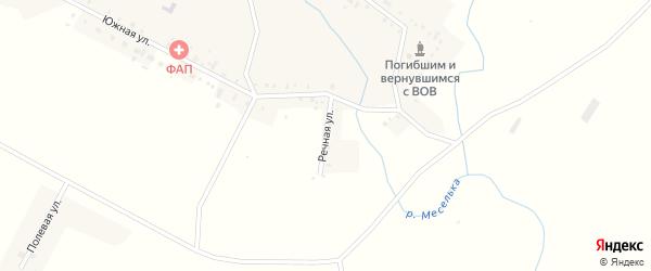 Речная улица на карте села Большое Аксаково с номерами домов