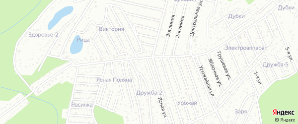 Улица 4 Сад 21 Треста на карте Уфы с номерами домов