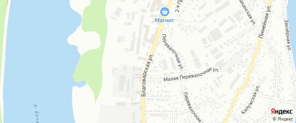 Благоварская улица на карте Уфы с номерами домов
