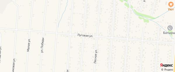 Луговая улица на карте села Старобалтачево с номерами домов