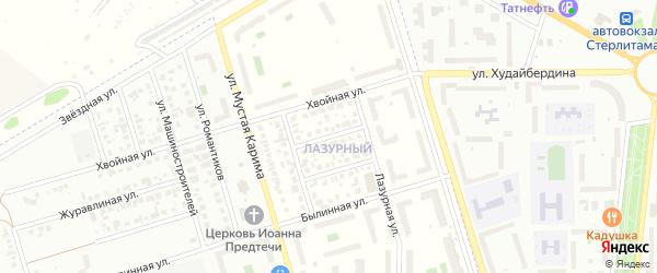 Лазурный 2-й переулок на карте села Мариинского с номерами домов