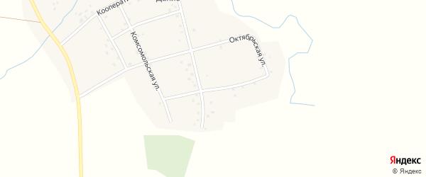 Октябрьская улица на карте деревни Иштыбаево с номерами домов