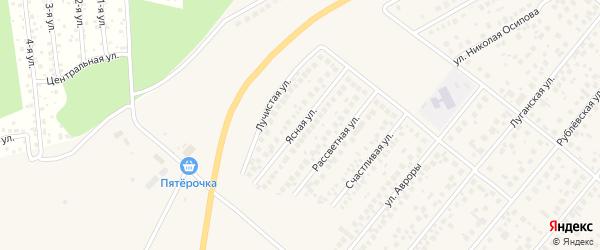 Ясная улица на карте села Зубово с номерами домов