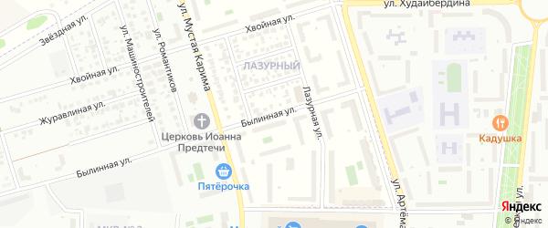 Былинная улица на карте села Мариинского с номерами домов