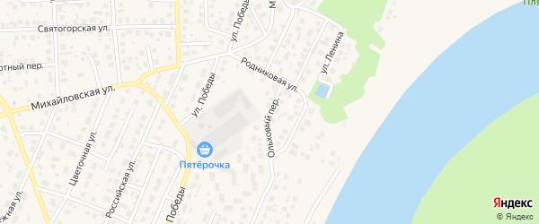 Ольховый переулок на карте села Михайловки с номерами домов
