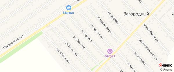 Улица Бунина на карте села Загородного с номерами домов