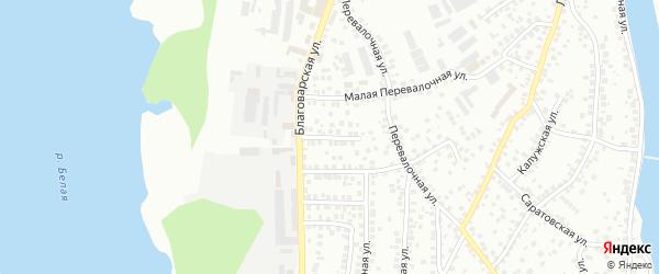 Благоварский переулок на карте Уфы с номерами домов