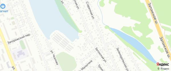 Затонская улица на карте поселка Тихой Слободы с номерами домов