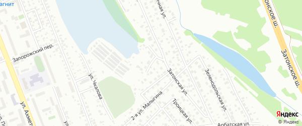 Камаринский тупик на карте поселка Тихой Слободы с номерами домов