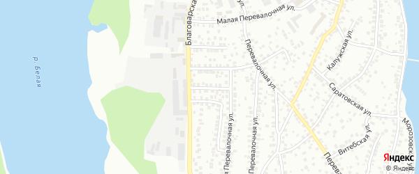 Благоварский 2-й переулок на карте Уфы с номерами домов