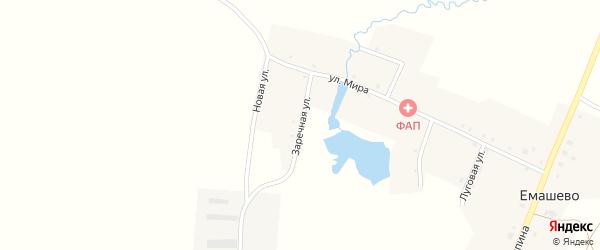 Заречная улица на карте села Емашево с номерами домов