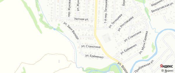 Переулок Станотина на карте Стерлитамака с номерами домов