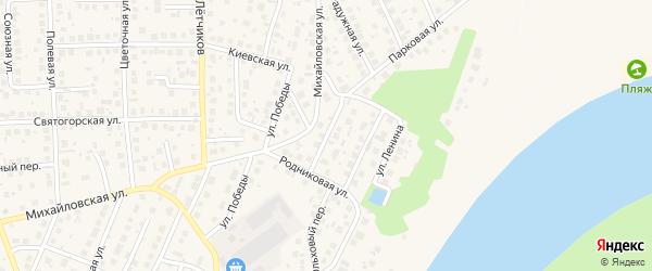 Звездная улица на карте села Михайловки с номерами домов